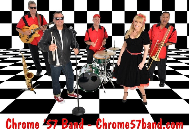www.chrome57band.com, Oldies band Florida, Chrome '57 band, 1950's band Florida, 50's band Florida, 50's entertainment Florida, 50s band Florida, sock hop band, fifties band Florida