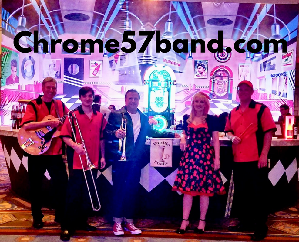 The Chrome 57 band is a 50s Band in Jacksonville for Sock hop events, Grease Theme party. A Premier Oldies band.